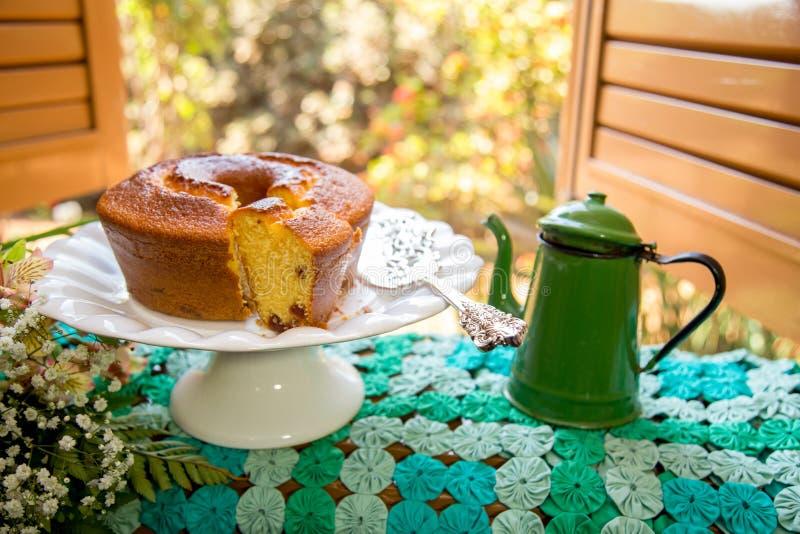 Колониальный антиквариат Бразилии завтрака стоковые фотографии rf