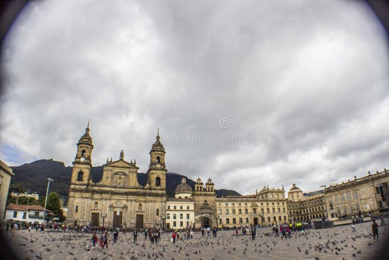 Колониальный городской bogota Колумбия панорамная стоковое изображение