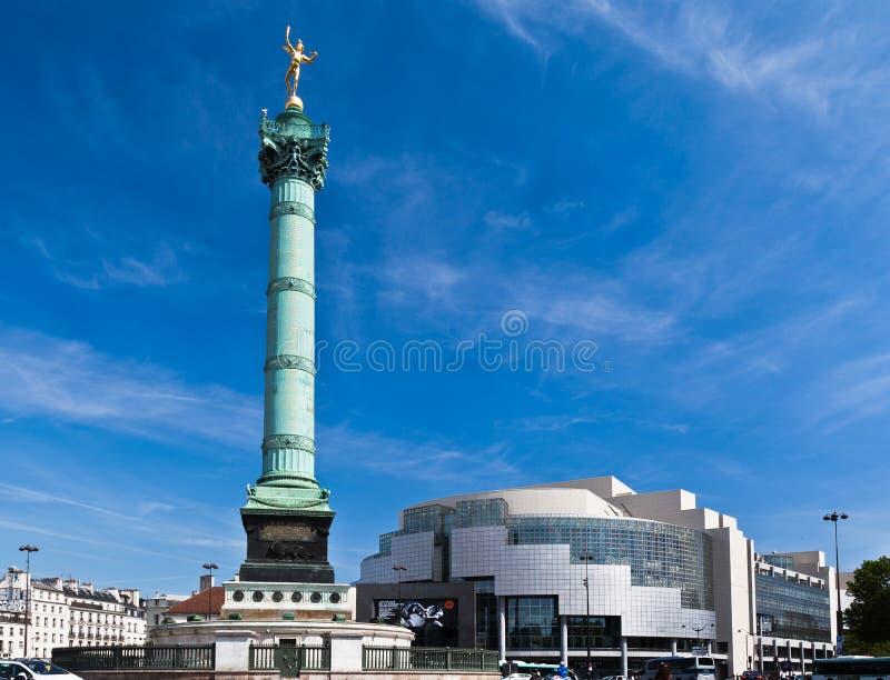 колонка Франция paris -го Бастилии июль стоковая фотография rf