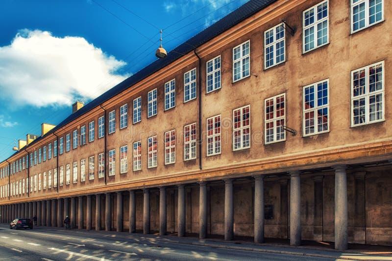 Колоннада вне датского Национального музея, Копенгаген, Denmar стоковые изображения rf