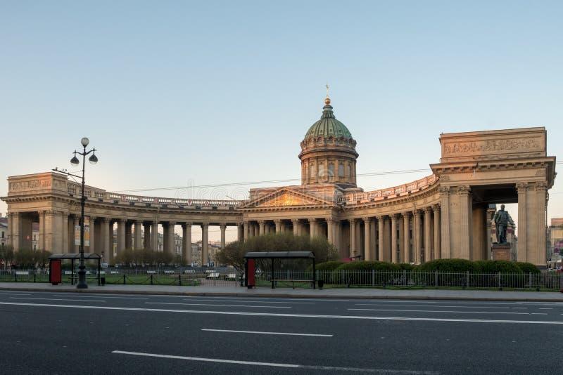 Колоннада собора Казани стоковые изображения rf