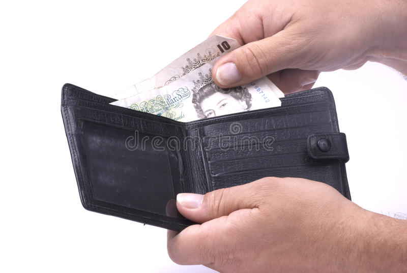 колотит бумажник стоковые изображения rf