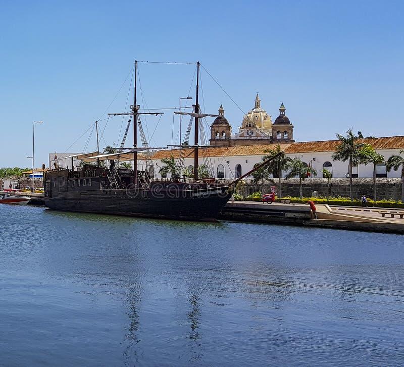Колумбийский красивый ГОРОД Cartagena стоковые изображения
