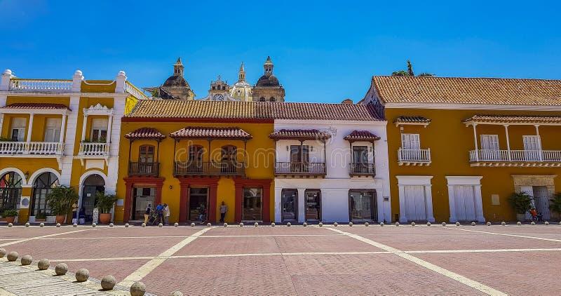 Колумбийский красивый ГОРОД Cartagena стоковые фото
