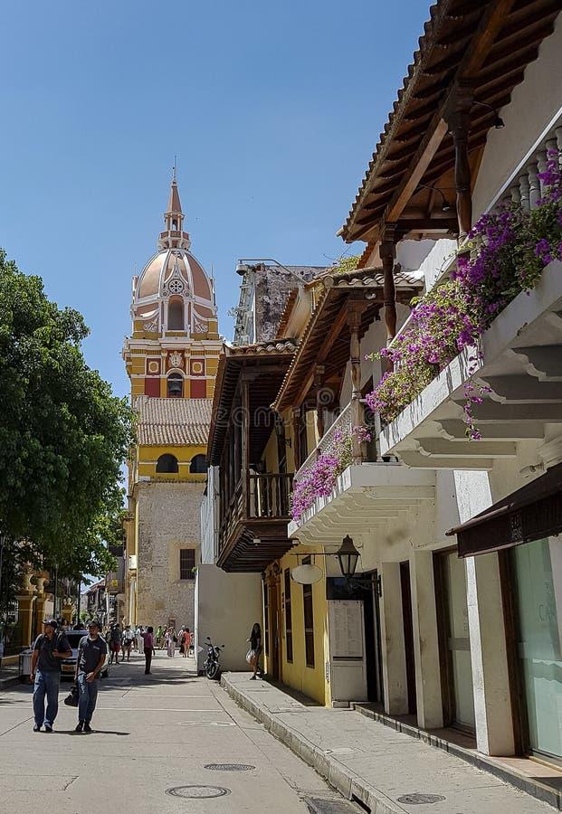 Колумбийский красивый ГОРОД Cartagena стоковое изображение