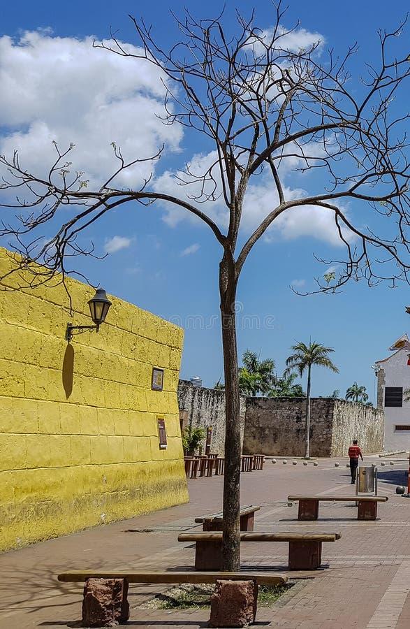 Колумбийский красивый ГОРОД Cartagena стоковые фотографии rf