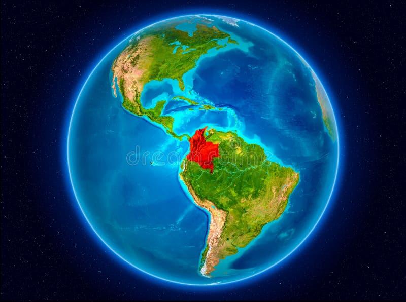 Колумбия на земле иллюстрация штока