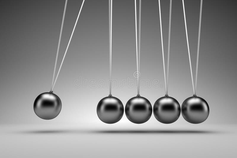 Колыбель Ньютона - 3d рендеринг иллюстрация вектора