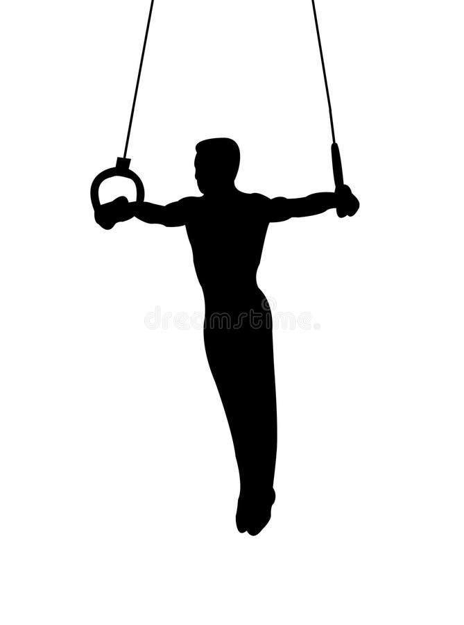 кольца гимнаста бесплатная иллюстрация