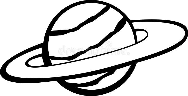 кольца планеты иллюстрация вектора