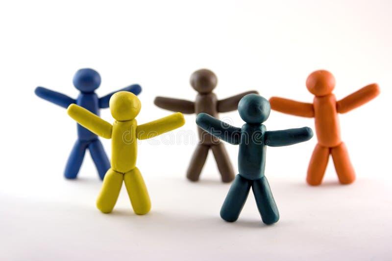 Download кольца пластилина людей олимпийские Стоковое Изображение - изображение насчитывающей сотрудничество, creativity: 6851349