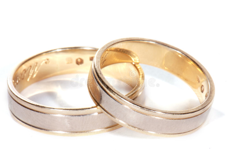 кольца 2 wedding стоковые фото
