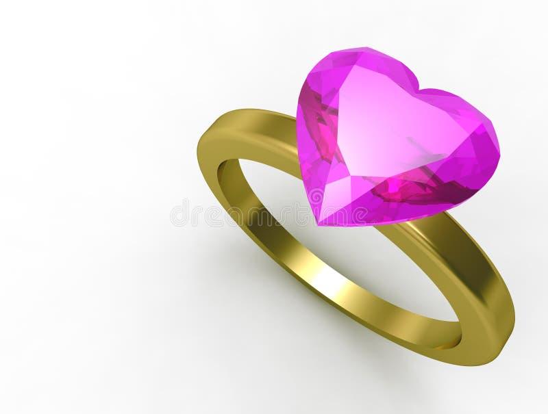 Кольцо влюбленности иллюстрация вектора