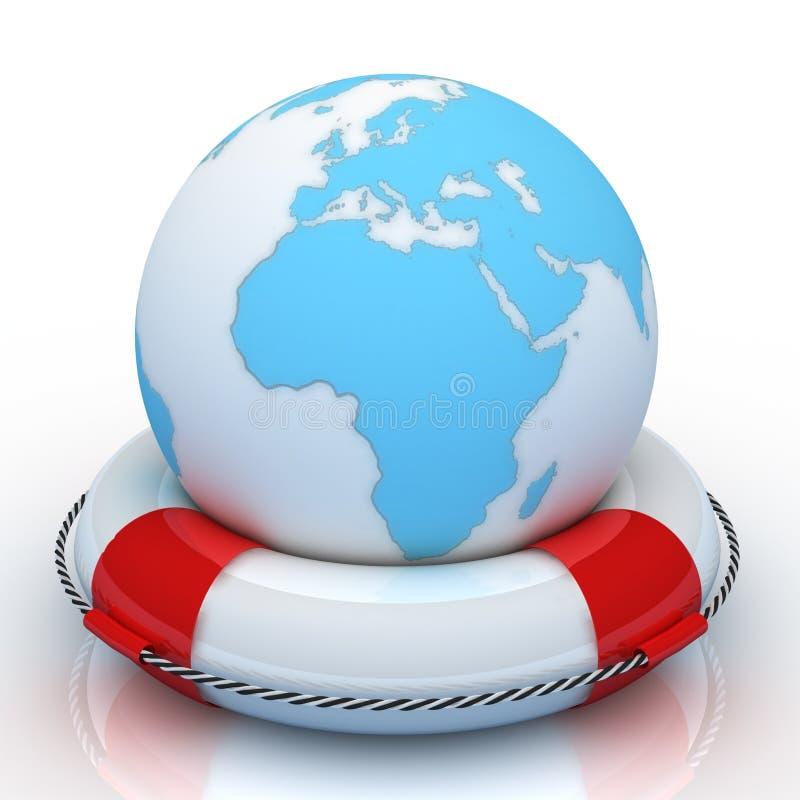 кольцо глобуса 3d lifebuoy бесплатная иллюстрация
