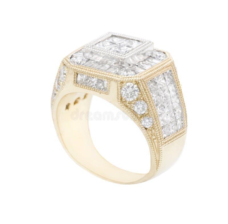 кольцо диамантов стоковое изображение
