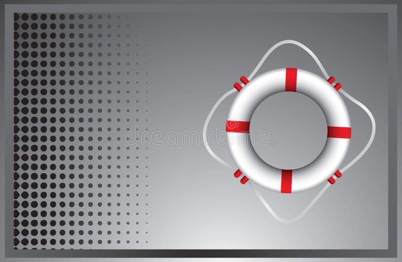 кольцо жизни halftone рекламы серое иллюстрация вектора