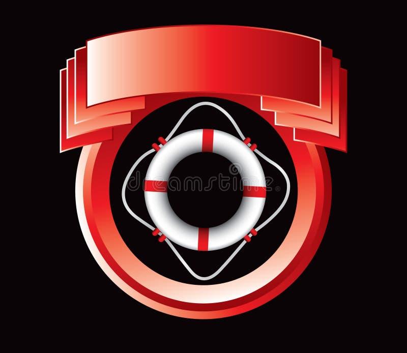 кольцо красного цвета жизни гребеня иллюстрация вектора