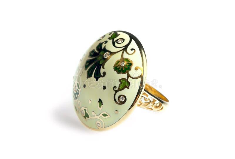 кольцо эмали диамантов стоковые фотографии rf