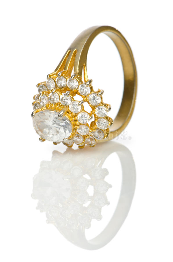 Кольцо Jewellery на белизне стоковая фотография rf