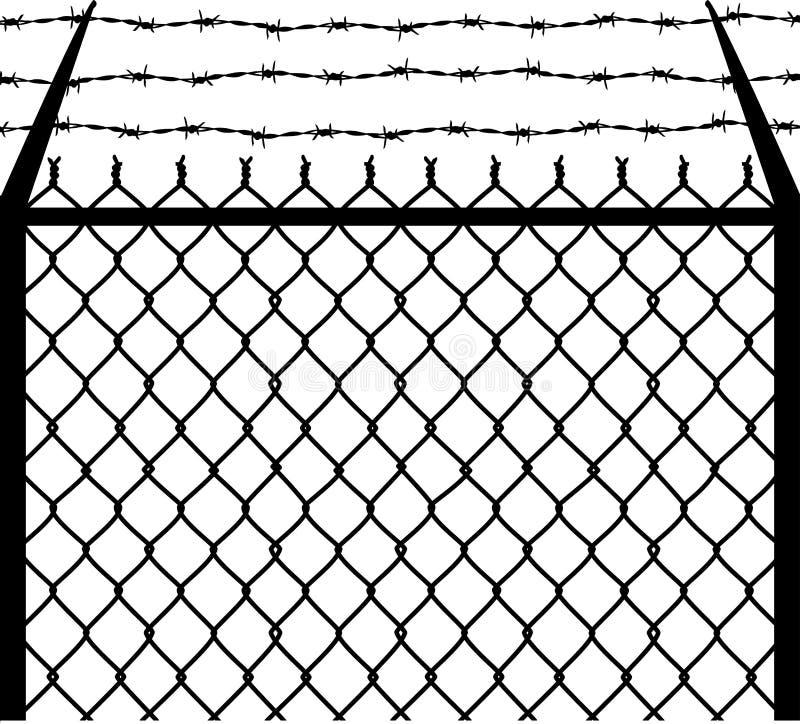 колючая цепь иллюстрация вектора