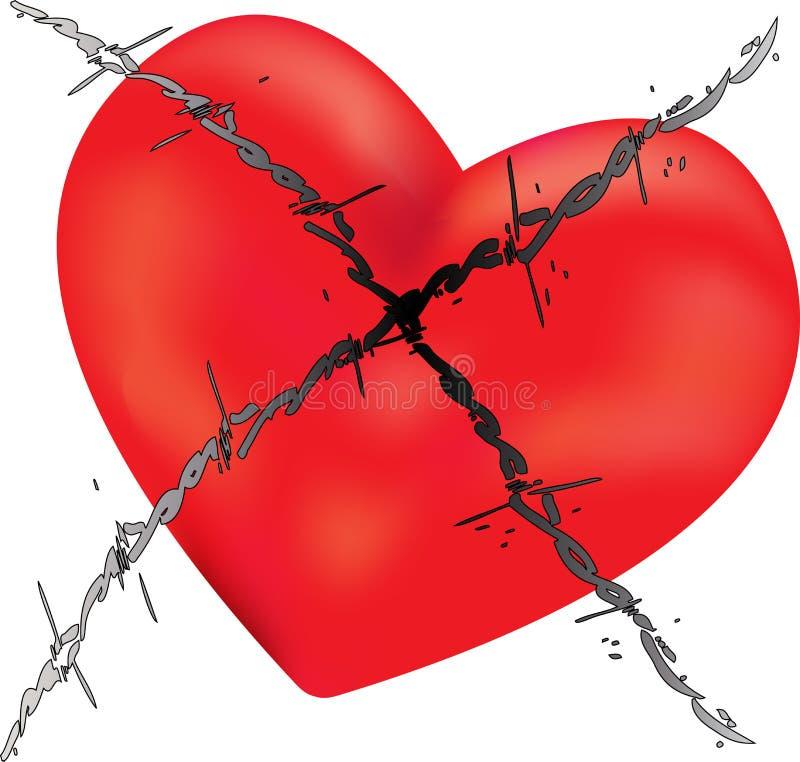 колючий провод влюбленности иллюстрация вектора