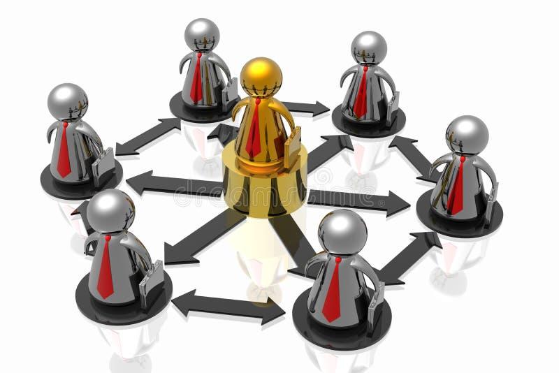 команда бизнеса лидер бесплатная иллюстрация