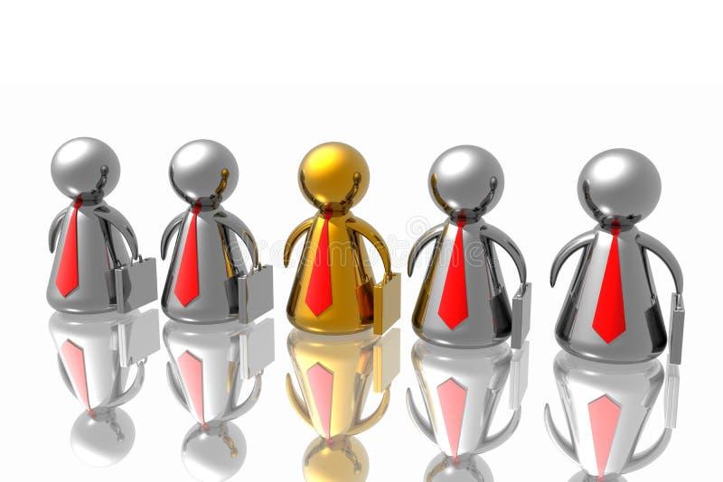 команда бизнеса лидер иллюстрация штока