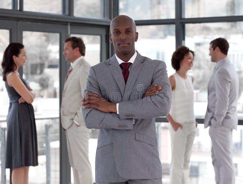 команда бизнесмена серьезная стоковое изображение rf