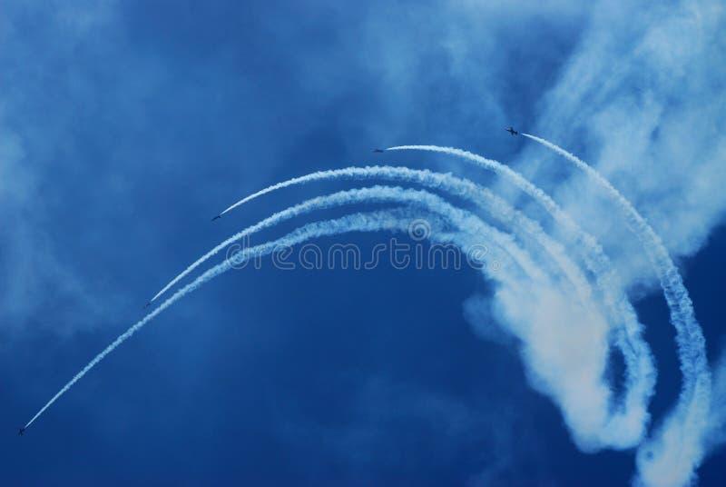 команда выставки воздуха стоковое изображение