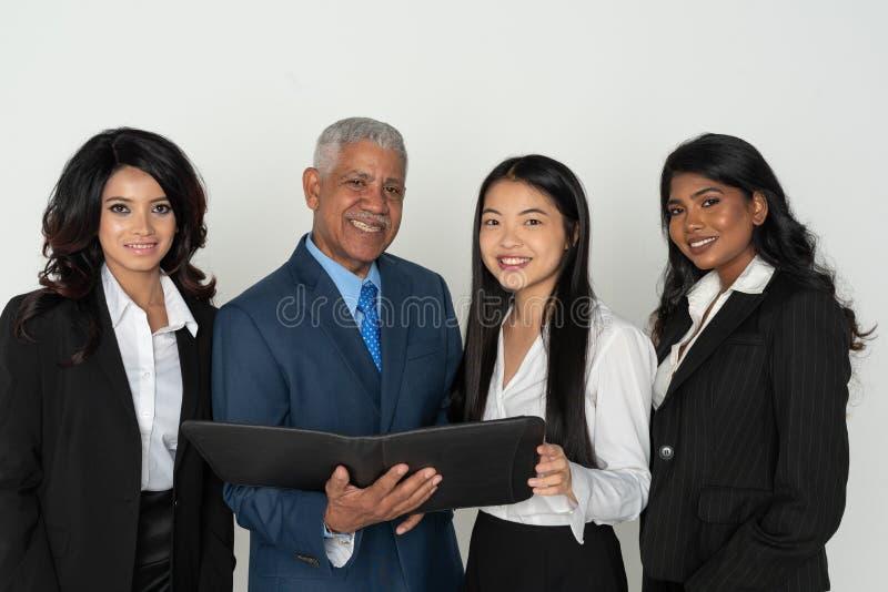 Команда дела работников меньшинства стоковая фотография rf