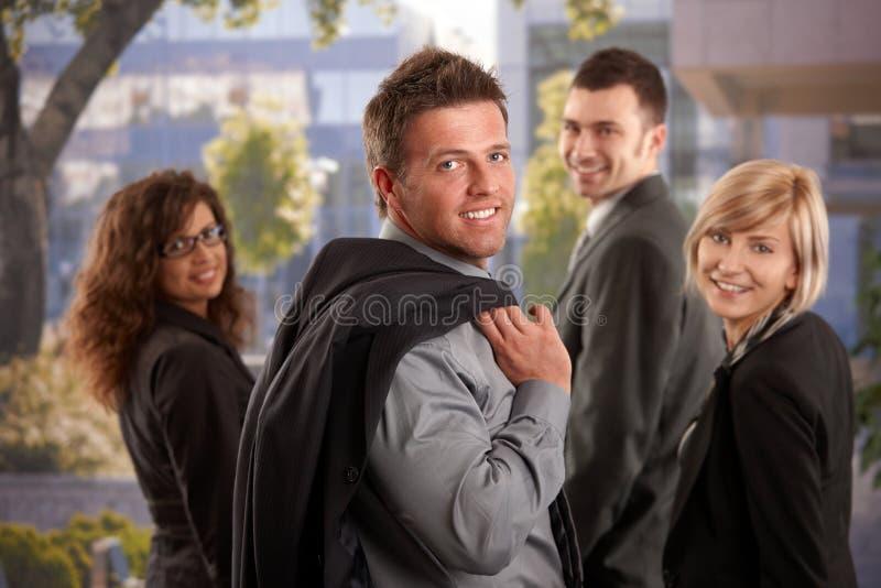 команда дела счастливая стоковая фотография