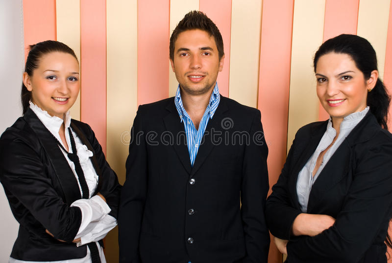 команда дела счастливая стоковое изображение rf