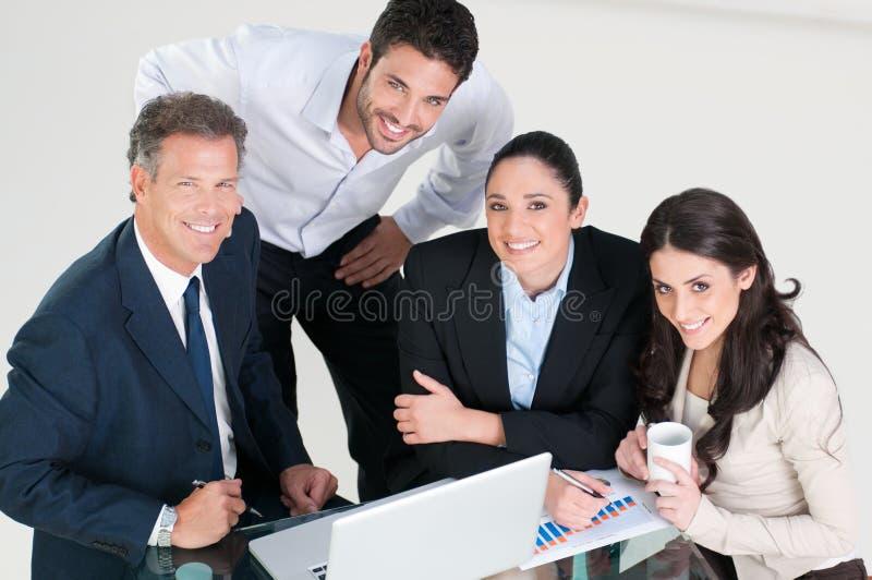команда дела счастливая стоковое фото