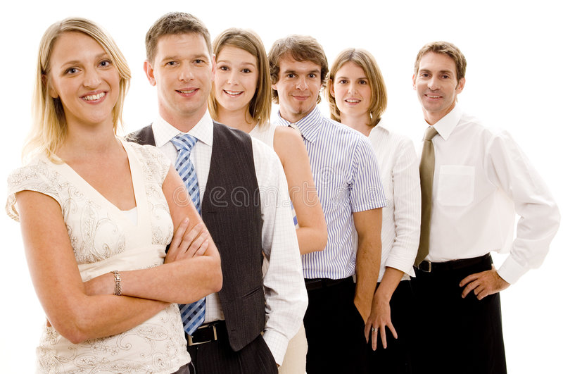 команда дела счастливая стоковое фото rf
