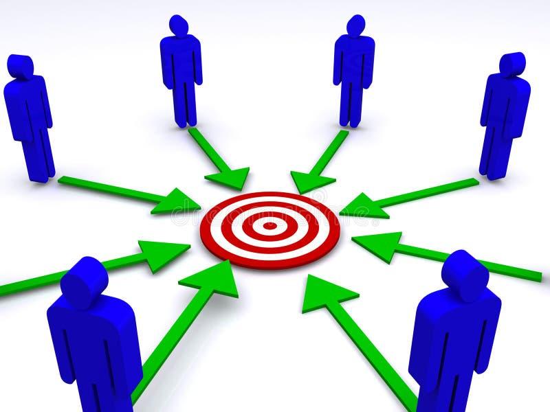 команда делового сообщества иллюстрация вектора