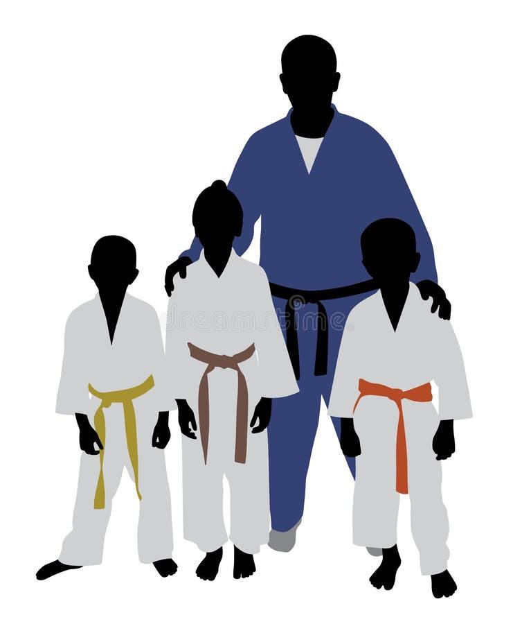 Команда дзюдо иллюстрация штока