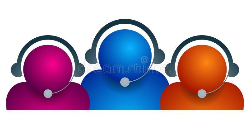 Команда заботы клиента на белизне бесплатная иллюстрация
