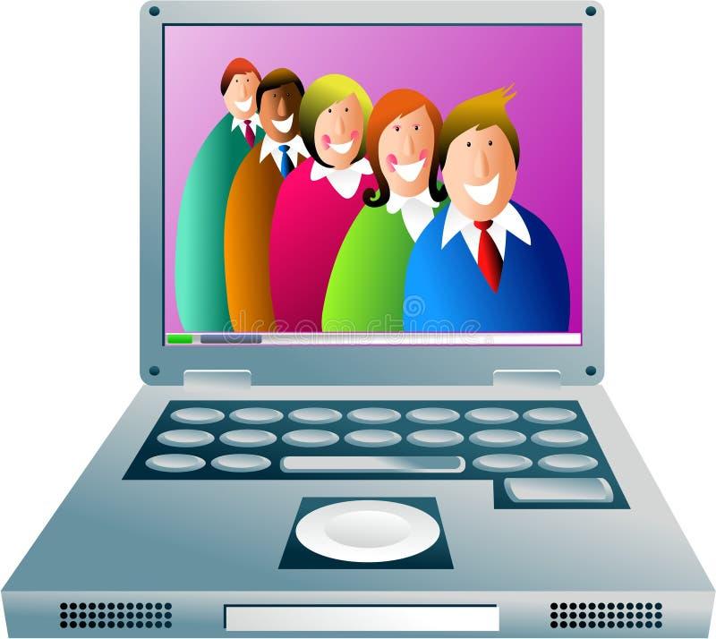 команда компьютера иллюстрация штока