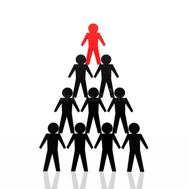 команда красного цвета бизнеса лидер иллюстрация штока