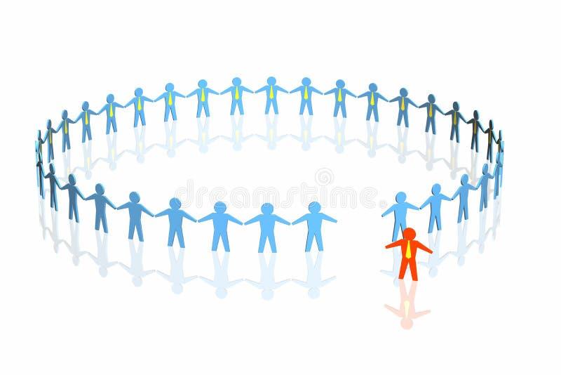 команда красного цвета бизнеса лидер иллюстрация вектора