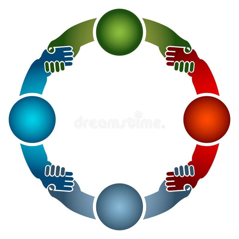 Команда круглая иллюстрация вектора