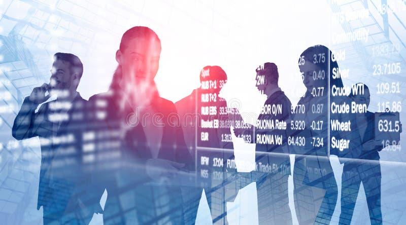Команда маклеров, фондовая биржа дела стоковые фотографии rf