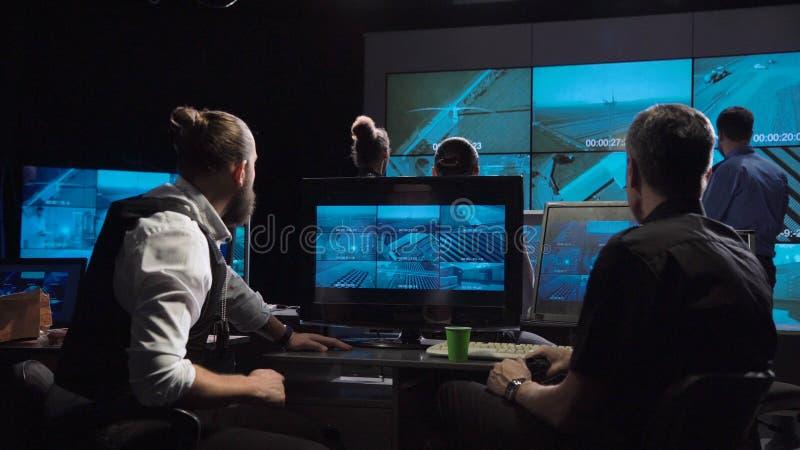 Команда наблюдения офиса стоковые фотографии rf