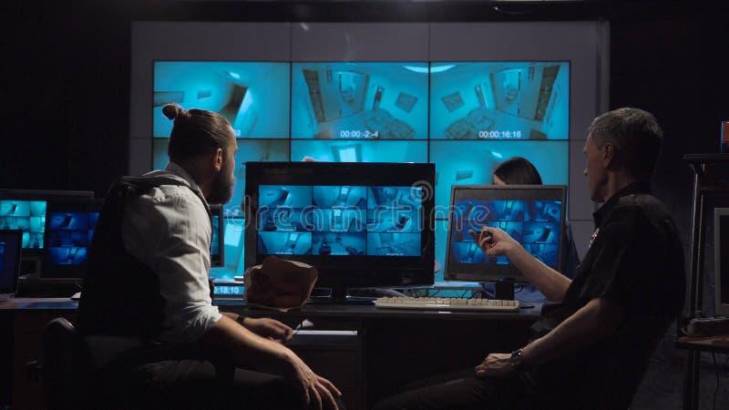Команда наблюдения офиса стоковое фото rf