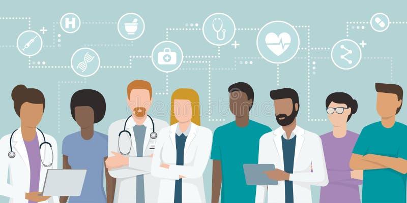 Команда профессиональных докторов бесплатная иллюстрация
