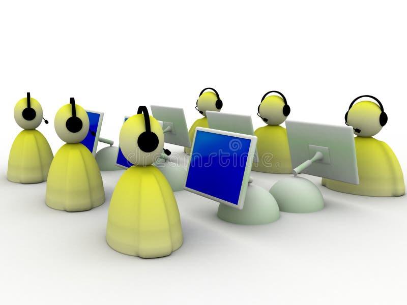 команда работы с клиентом бесплатная иллюстрация