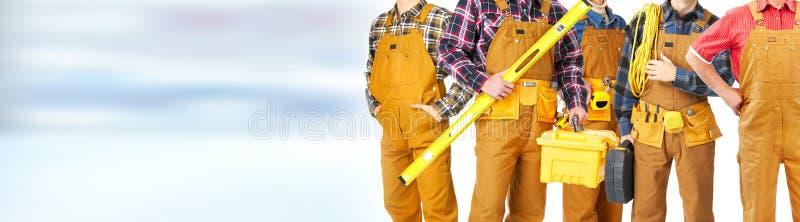 Команда рабочий-строителей стоковое изображение rf