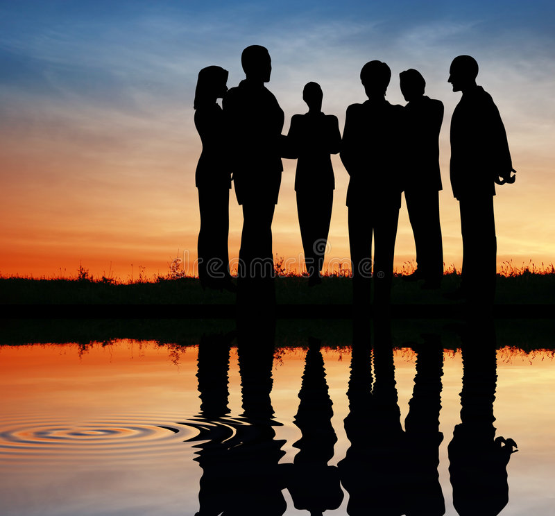 команда силуэта дела стоковые фото