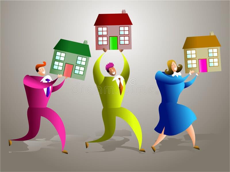 команда снабжения жилищем иллюстрация штока