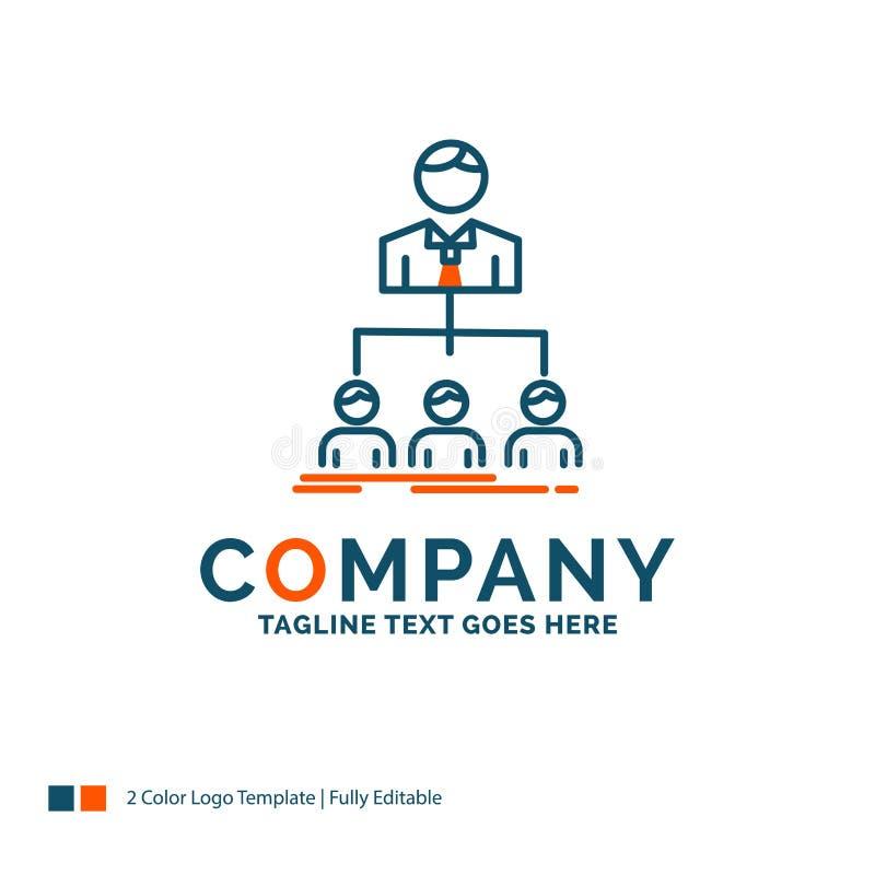 команда, сыгранность, организация, группа, дизайн логотипа компании Синь a иллюстрация вектора